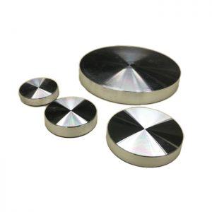 4 Aluminum UV Bonding plates for glass D25 with M8 internal thread