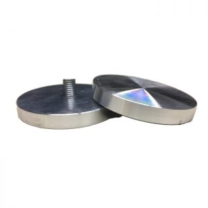 4 Aluminum UV Bonding plates for glass D75 with M10 internal thread