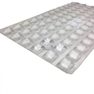 78 pcs. Transparent  Antislip Glass Pads 20.5x7.5mm