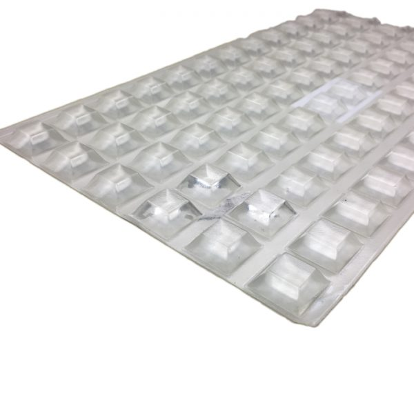 78 pcs. Transparent  Antislip Glass Pads 20.5x7.5mm