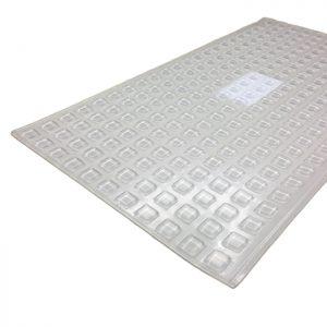242 pcs.  Transparent  Antislip Glass Pads 10x2.5mm